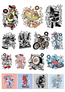 Stikers Set Free Vector Cdr
