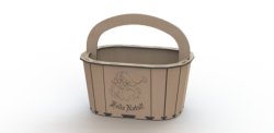 MDF Bucket Laser Cut Free Vector Cdr