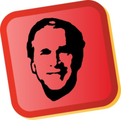 George W Bush Sticker Free Vector Cdr