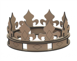 Crown Laser Cut Shape Free Vector Cdr