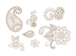Henna Vector Set Vector Art Free Vector Cdr