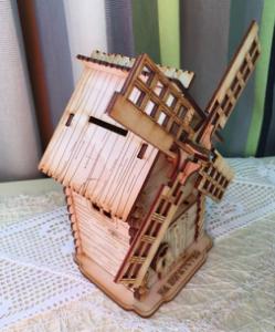 Laser Cut 3D Windmill Free Vector Cdr