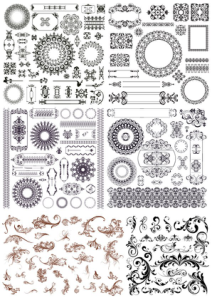 Set of Decor Elements Free Vector Cdr