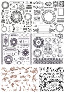 Set of Decor Elements Free Vector Cdr