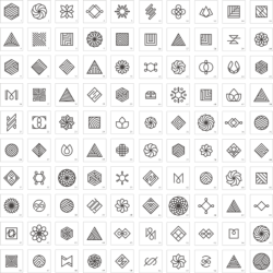Geometric Premade Logo Set Free Vector Cdr