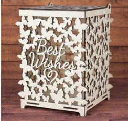 Wedding box for money Butterflies Free Vector Cdr