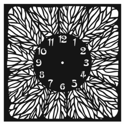 Clock floral pattern Free Vector Cdr