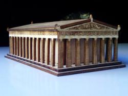 Partenon 3D Puzzle Free Vector Cdr