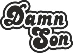 Damn Son Sticker Free Vector Cdr