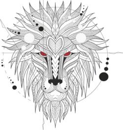 Ferocious Lion Head Totem Free Vector Cdr
