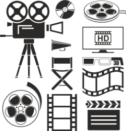 Movie Icons Set Free Vector Cdr