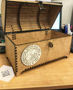 Laser Cut Treasure Chest Free Vector Cdr