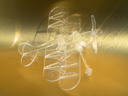 Biplane Laser Cut Free Vector Cdr