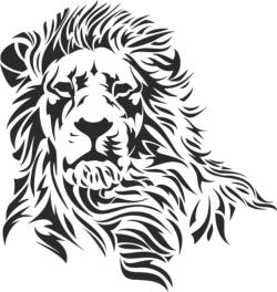 Lion Stencil Vector Free Vector Cdr