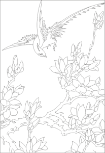 Floral Scenery Free Vector Cdr