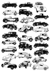 Vintage car vectors Free Vector Cdr