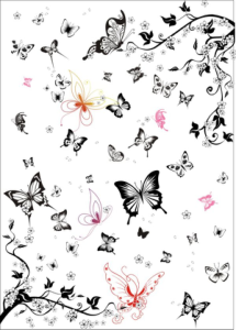 Super multi black and white butterfly vector set Free Vector Cdr