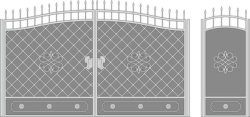 Metal Gate Forged Ornaments Vector Art Free Vector Cdr