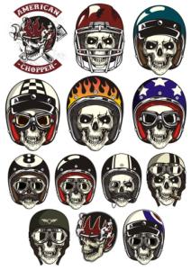 Skull In Helmet Vectors Free Vector Cdr