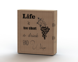 Laser cut wine box plans Free Vector Cdr