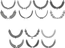 Digital Laurel Wreath laurel Clip Art Free Vector Cdr