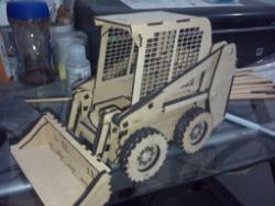 Mini Loader 3D Puzzle Pattern Lasercut Free Vector Cdr