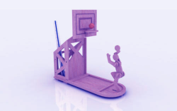 Basketball Pen Holder Stand 3mm Free Vector Cdr