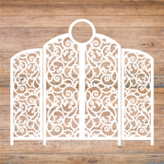Decoration Screen Laser Cut Template Free Vector Cdr