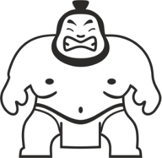 Sumo Wrestler Sticker Vector Free Vector Cdr