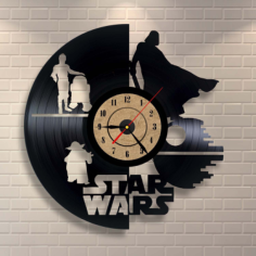Vinyl Record Clock Star Wars Wall Decor Free Vector Cdr