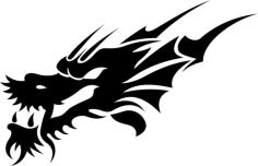 Tribal Dragon Tattoo Design Vector Free Vector Cdr