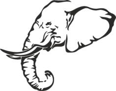 Elephant Stencil Free Vector Cdr