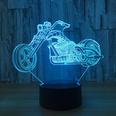 Motorcycle 3D LED Illusion Night Light Free Vector Cdr