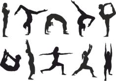 Yoga silhouette vector Free Vector Cdr