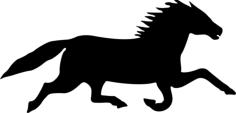 Horse Running Vector Free Vector Cdr