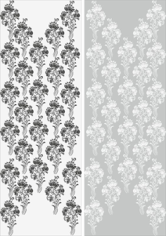 Abstract Flowers Sandblast Pattern Free Vector Cdr