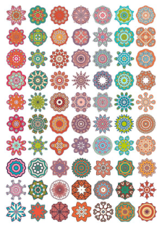 Vector Decorative Mandala Ornaments Free Vector Cdr