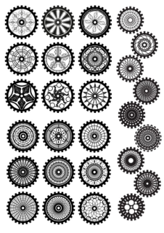 Steampunk Gear Vector Set Free Vector Cdr
