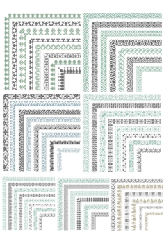 Set of Floral Vector Borders Free Vector Cdr