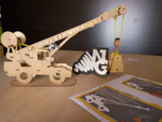 Crane 3D Puzzle Free Vector Cdr