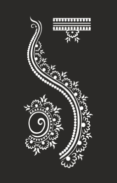 Henna design Free Vector Cdr