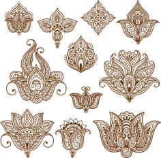 Henna Mehndi Tattoo Doodles Vector Design Free Vector Cdr