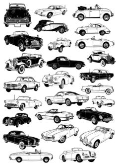 Classic Car Vectors Free Vector Cdr