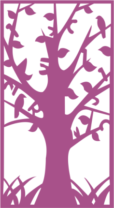 Tree Without Leaves Silhouette Free Vector Cdr