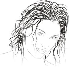Drawn woman vector Free Vector Cdr