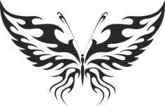 Butterfly Vector Art 011 Free Vector Cdr