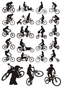 Bicycles Silhouettes Free Vector Cdr