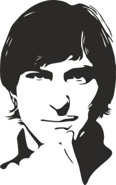 Steve Jobs Stencil Free Vector Cdr
