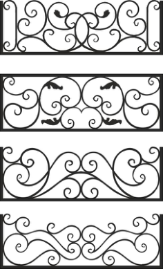 Steel Balcony Rails Free Vector Cdr