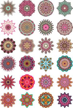 Mandala Floral Vector Free Vector Cdr